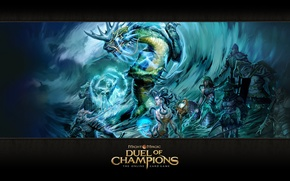 Картинка Might & Magic: Duel of Champions, Коралловая жрица, Нага-воин, Ванидзаме, Кирин, Кэнси, Святилище, Мидзу-ками, Повелительница …