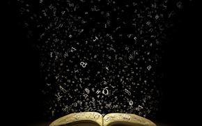 Картинка буквы, воздух, книга, страницы
