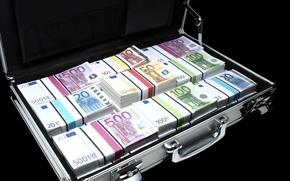 Картинка Euro, Деньги, Money, Евро, Wallpaper On Your Desktop, Обои на Рабочий Стол, Дипломат, Diplomat