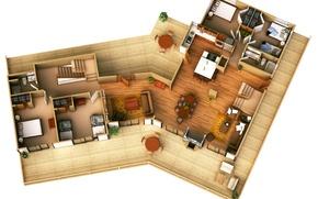 Картинка house, design, interior, distribution