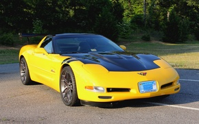 Картинка Corvette, Chevrolet, One, Forged, Wheels, Parts, Piece, AR1, Forgeline, Monoblock, Zip
