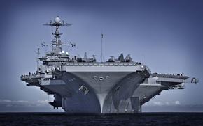 Картинка авианосец, американский, атомный, George Washington, USS, CVN-73, типа, «Джордж Вашингтон», «Нимиц»