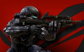Картинка Microsoft, wallpaper, gun, Halo, game, soldier, military, weapon, war, man, Xbox, Nanosuit, rifle, warrior, helmet, …