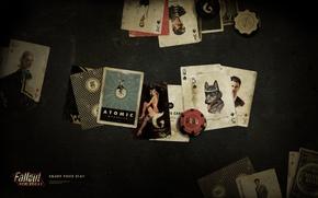 Картинка карты, фишки, Fallout, караван, New Vegas, сукно