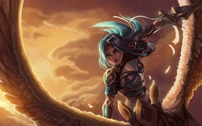 Обои lol, League of Legends, fan art, fiora, Grand Duelist