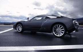 Обои Авто, облака, черный