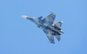 Обои полет, крылья, истребитель, российский, многоцелевой, двухместный, Су-30СМ