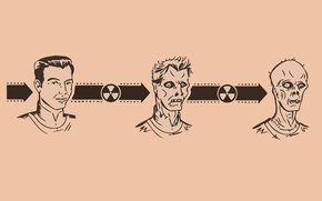 Обои радиация, зомби, эволюция, мутация