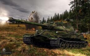 Обои tank, weapon, танк, world of tanks, Об.260, игры, мир танков, game, оружие