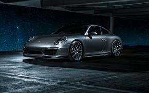 Картинка 911, Porsche, Carrera 4, серая, порше, каррера, 2015