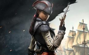 Картинка девушка, пират, ассасин, Assassin's Creed IV: Black Flag, эвелина
