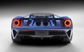 Картинка Concept, Ford, Синий, Вид, Концепт, Форд, Сзади, 2017