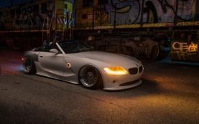 Картинка car, ночь, tuning, bmw z4, stance