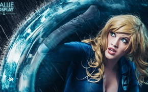 Картинка blue, power, blonde, Invisible Woman, callie cosplay