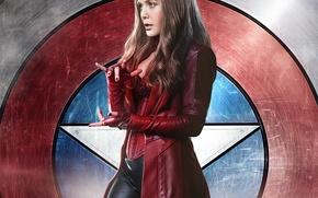 Обои Captain America: Civil War, Первый мститель: Противостояние, Wanda Maximoff, Elizabeth Olsen, Scarlet Witch