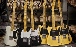 Картинка guitar, fender, esquire, electric, telecaster