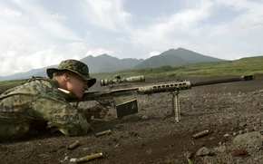 Обои снайпер, Barrett, прицел, винтовка