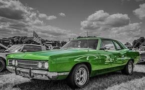 Картинка ретро, 1969, автомобиль, классика, Ford Galaxie