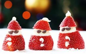 Картинка Food, Santa Snacks, strawberry santa