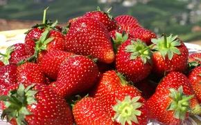Обои Клубника, обои, ягода