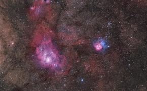 Картинка космос, туманность, M20, Мессье, NGC 6559