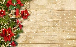 Картинка зима, снег, украшения, елка, Новый Год, Рождество