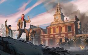 Обои оружие, победа, солдаты, революция, Homefront: The Revolution, пленные