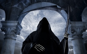Картинка скелет, ужас, horror, косой, creepy, scary, grim reaper, skeleton, страшным, scythe, жутким, Грим, жатка для …