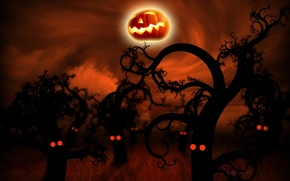 Картинка dark, halloween, pumpkin