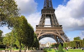 Обои франция, paris, эйфелева башня, Марсово поле, Париж, архитектура, france
