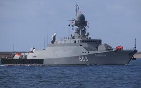 """Картинка корабль, ракетный, малый, Черноморский Флот, """"Серпухов"""""""