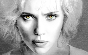 Картинка Scarlett Johansson, eyes, Lucy, lips, look, actress, enigma, riddle