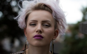 Обои стрижка, взгляд, Anita Pelgrim, модель, стиль