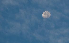 Картинка небо, облака, луна