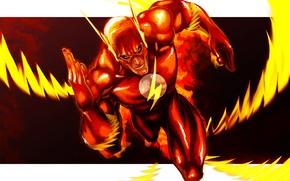 Картинка фантастика, скорость, арт, the flash, DC Comics, Флэш, barry allen