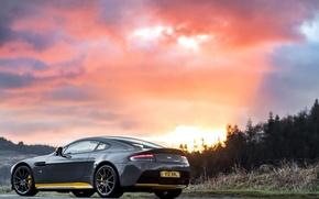 Картинка car, машина, закат, фото, Aston Martin, астон мартин, wallpaper, V12, Vantage S, Sport-Plus Pack