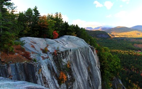 Картинка осень, деревья, горы, скалы, Природа, trees, nature, autumn, mountain, fall