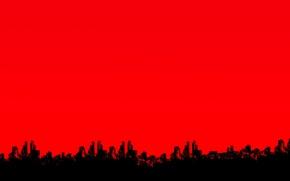 Обои небо, город, дома, силуэт