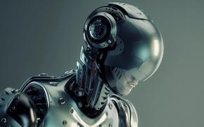 Картинка cyborg, head, helmet, humanoid robot