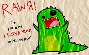 Картинка love, RawЯ, Dinosaur