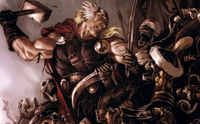 Картинка бог, скелеты, Thor, Marvel Comics, мститель, Avenger
