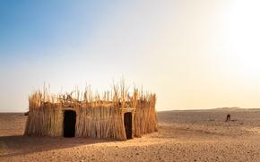 Картинка природа, пустыня, хижина, Morocco, the Western Sahara Desert