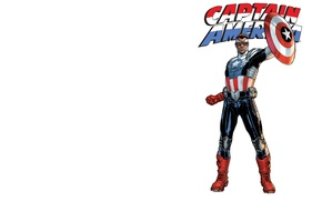 Картинка костюм, щит, комикс, Капитан Америка, Captain America, MARVEL, Sam Wilson