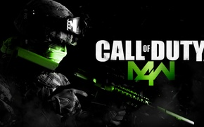 Картинка Games, Call, Warfare, Modern, Duty, M4W, call of duty mw 4