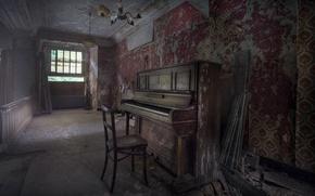 Картинка фон, стул, пианино