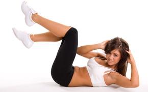 Обои abs, workout, sportswear, pose, fitness