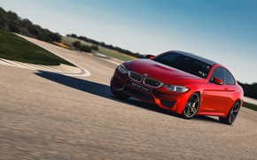 Картинка Красная, BMW, Поворот, Занос, Red, Coupe, F82, Gran Turismo 6
