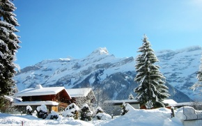 Обои Дома, Зима