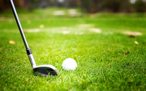 Картинка grass, ball, player, golf club