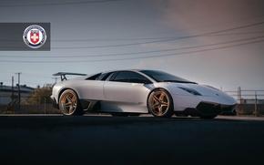 Картинка Lamborghini, with, Murcielago, Wheels, HRE